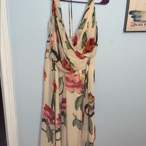Long floral formal dress. Very flowy